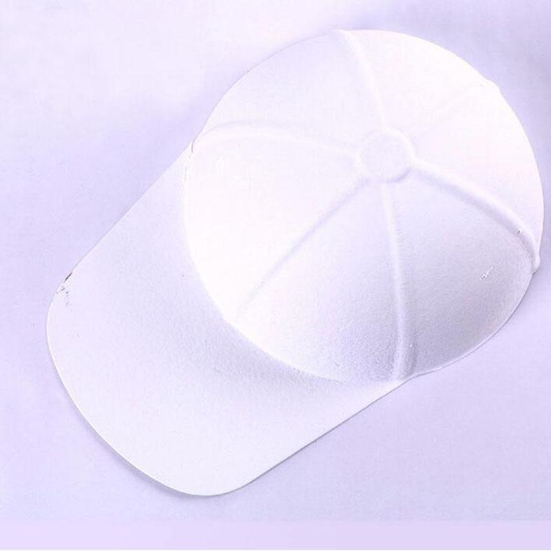 100pcs DIY Hand-painted White Pulp Paper Blank Baseball Cap Hat For Kids Hip Hop Caps Party Decoration Gift ZA4619