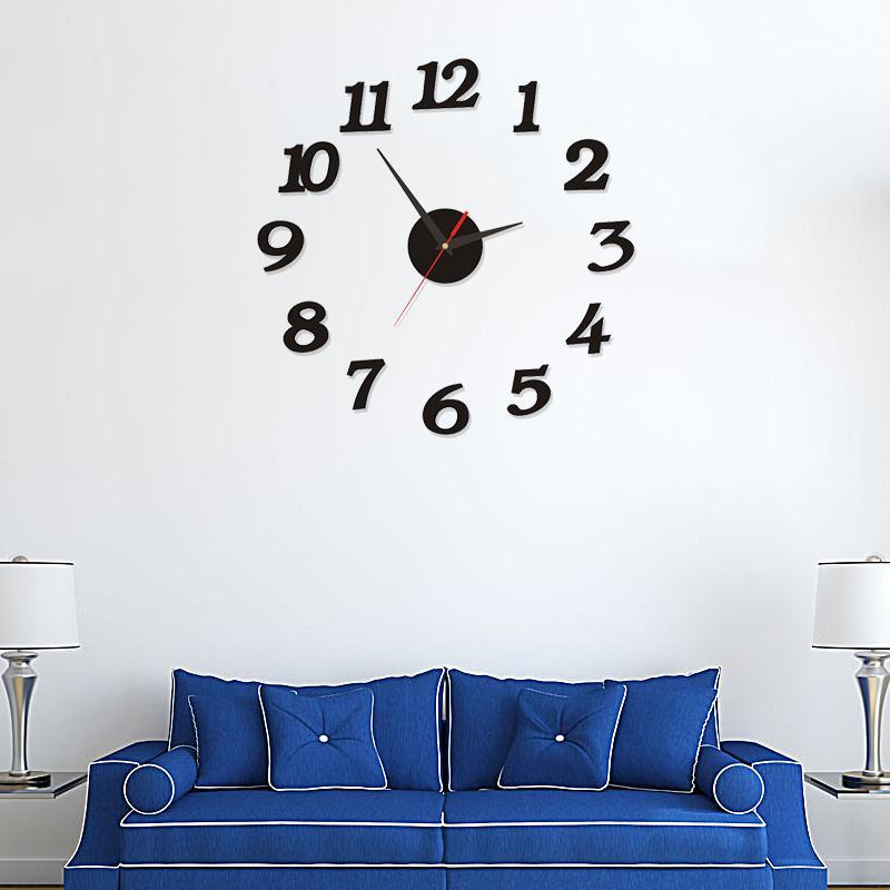 Modern Large Wall Clock 3d Mirror Sticker Unique Big Number Watch Diy Decor Wall Clock Art Sticker Decal Home Modern Decoration
