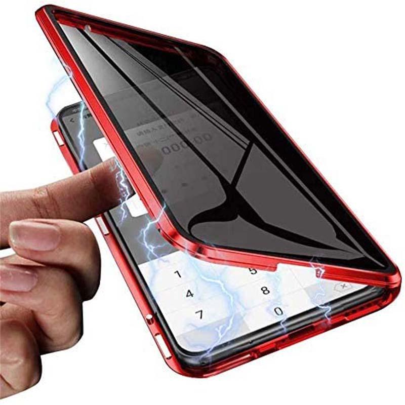 360 Caso Magnetic completa protecção Corpo Anti Peeping para Huawei Series P30 Case Capa Vidro Duplo Side temperado Pro Anti Spy