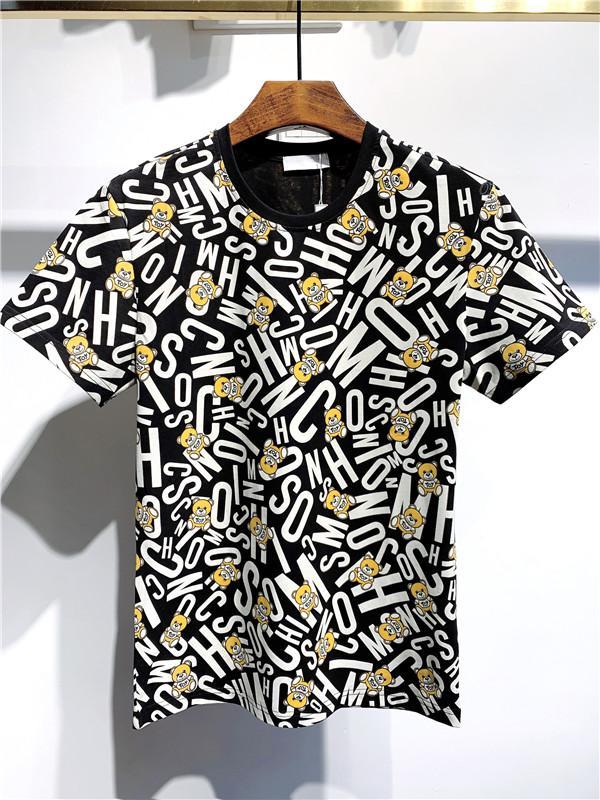 Nouveau Hommes T-Shirts Fashion Casual Tendance en tête col rond Lettre d'impression Matériel Coton Chemises Respirant M-3XL confortable