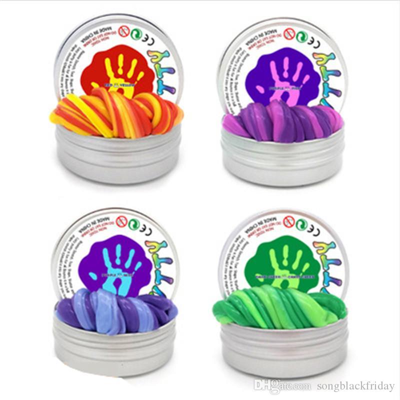 حار بيع الوحل DIY المغناطيسي بوليمر كلاي المعجون تلون المطاط المغناطيس نمذجة الطين اليد السحرية ترتد ألعاب هدية للأطفال