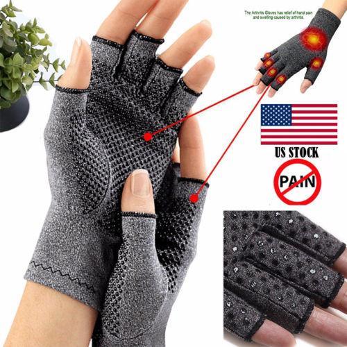 Gants Compression en cuivre sans doigts Carpal soutien main poignet Brace secours Tunnel arthrite douleurs articulaires