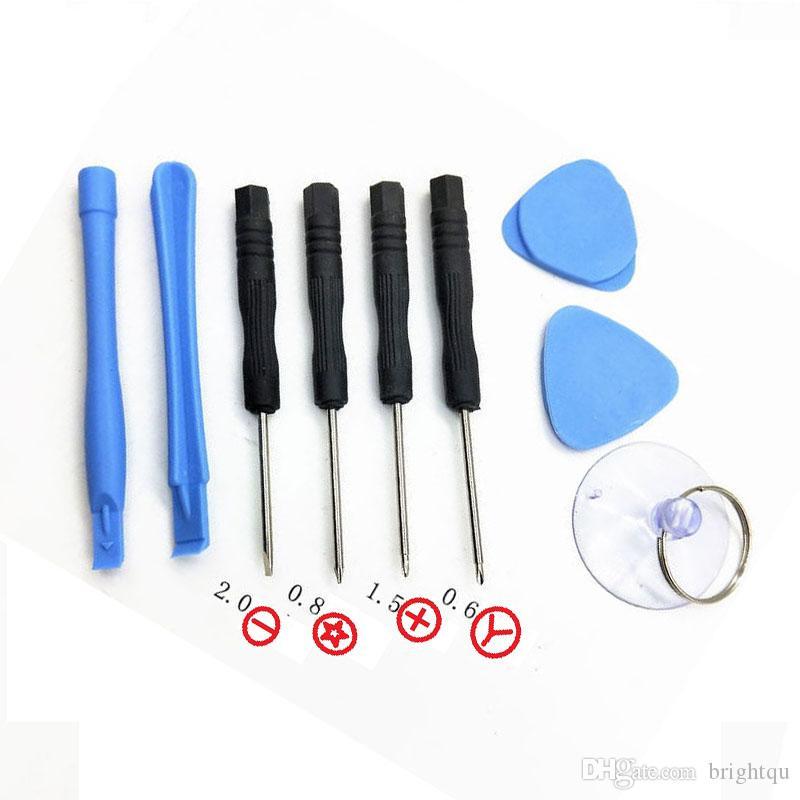 Handy Reparing-Werkzeuge 9 8 in 1 Reparatur-Satz-Öffnungswerkzeug Pentalobe Torx Schlitzschraubendreher für Apple iPhone 4 4S 5 5s 6 7 500PCS