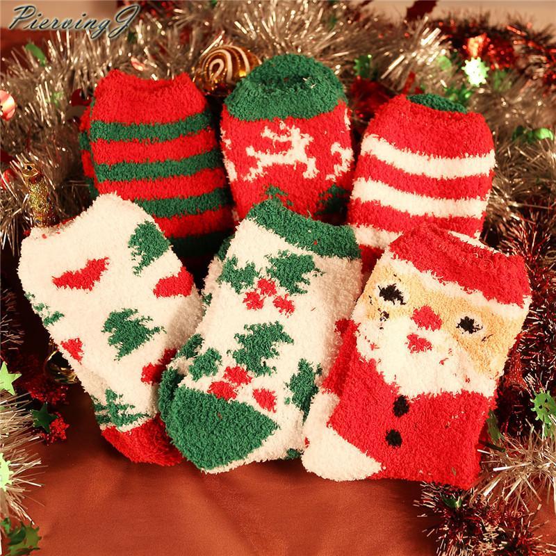 PiercingJ 6 Pares Fuzzy Fluffy Meias Super Macio Acolhedor Casa Chinelo Quente Meias para Amigos Da Família Casais presente de Natal