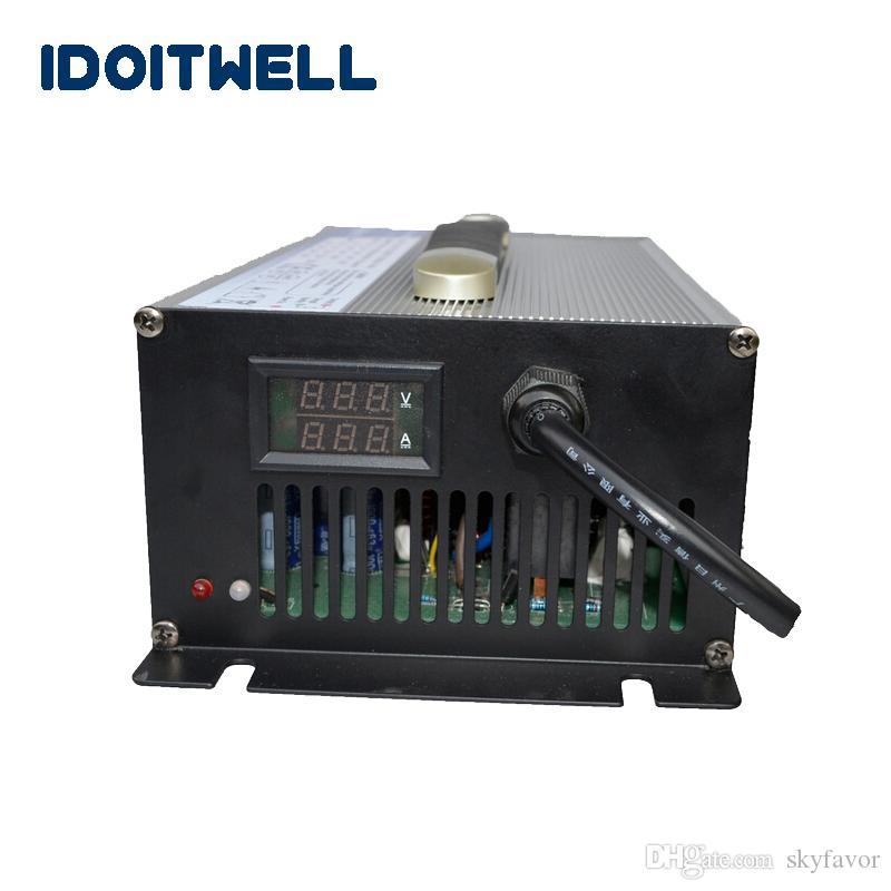 Personalizado 12V 50A carregador de bateria poder sobre protecção de temperatura automático 12V carregador de bateria para lifepo4 ácido li-ião