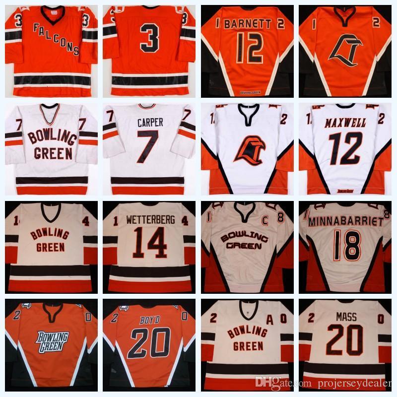 20 bolos Louis masa verde 18 Ryan Minnabarriet 12 Tim Maxwell 27 Alex Foster, 12 Ryan Barnett 7 Carper Universidad Estatal de Hockey Jersey