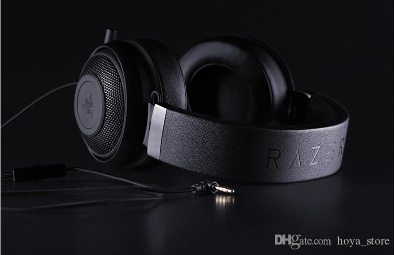 Hochwertige Razer V2 KRAKEN Pro Gaming Kopfhörer Frieden Elite Professionelle Sport Spiel verdrahteten Kopfhörer 3.5mm Kopfhörer-Kopfhörer für PC