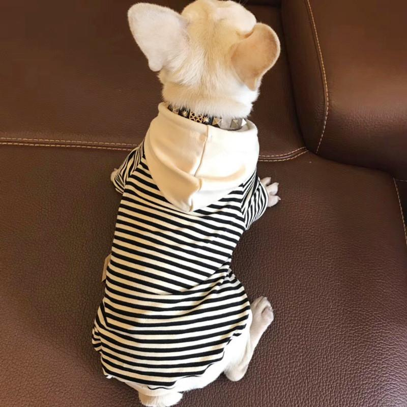 Family Clothing for Pet Dog and Host Stripe Pet Hoodies Leisure Puppy Clothes Leisure Autumn Dogs Clothes