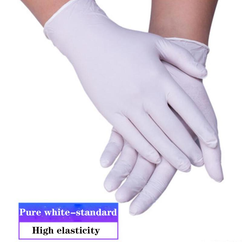 100pcs/lot Disposable Nitrile Gloves Latex Cleaning Gloves Household Garden Cleaning Gloves Home Cleaning Rubber Proof Mitten blue free DHL