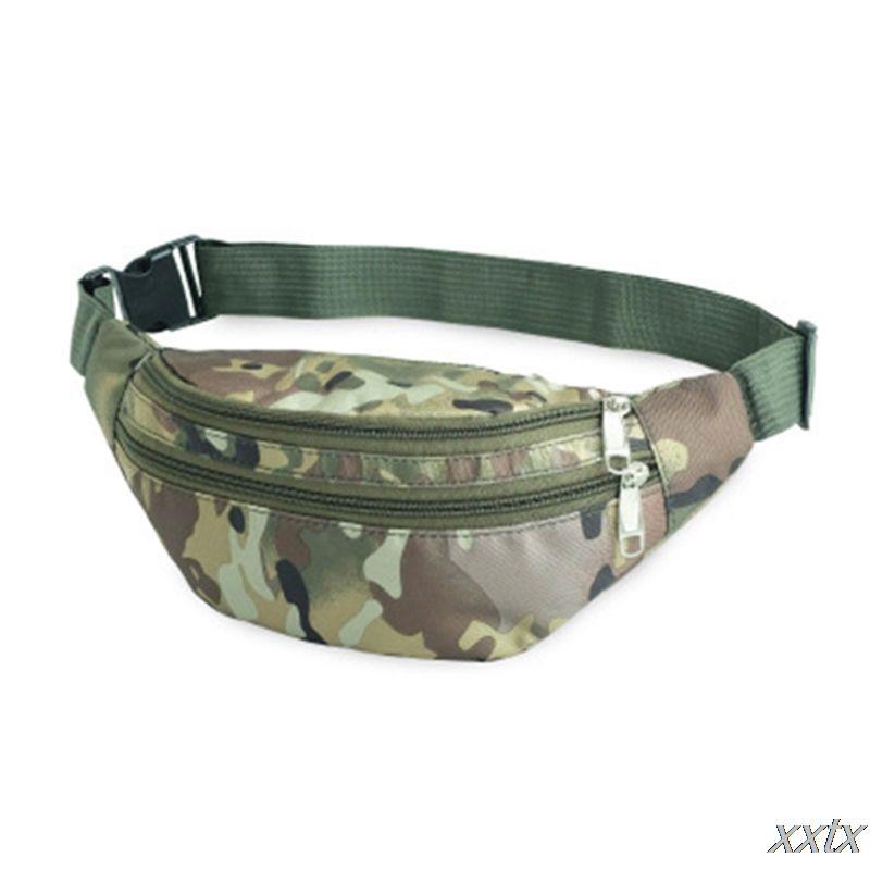 Nylon imperméable Sport Fanny Sac de taille Sac de couleur camouflage Sac bandoulière A69C