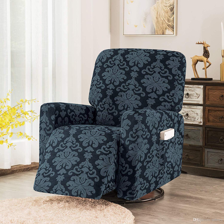 blanc 3 Seaters protection de meubles antid/érapante fauteuil Tissu Subrtex Housse de canap/é jacquard stretch en polyester pour canap/é fauteuil inclinable