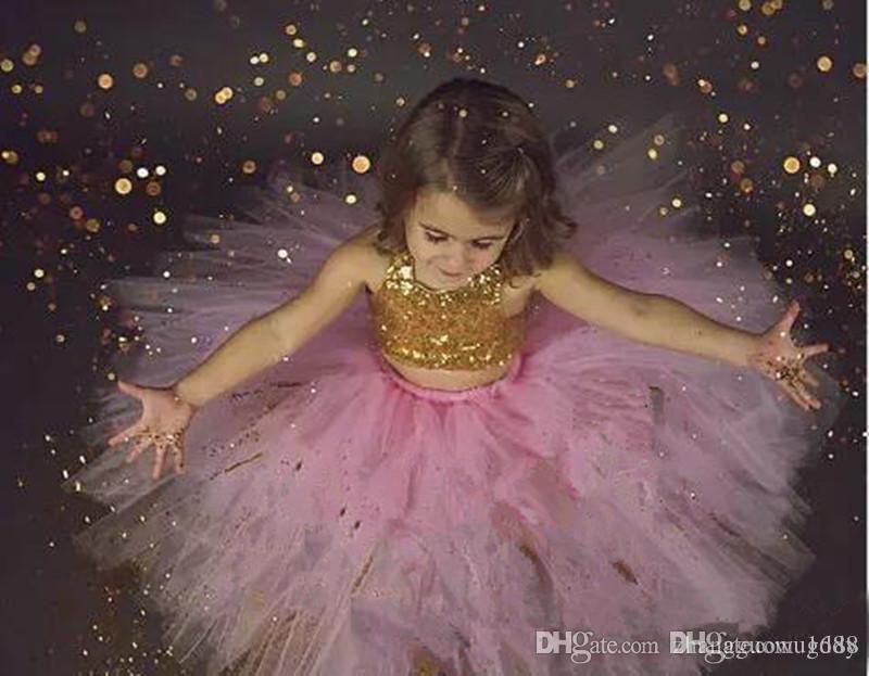 Flower Girl Dress Little Girls Pageant Dresses Ball Gown Tulle Flower Girls Formal Party Dress for Kids