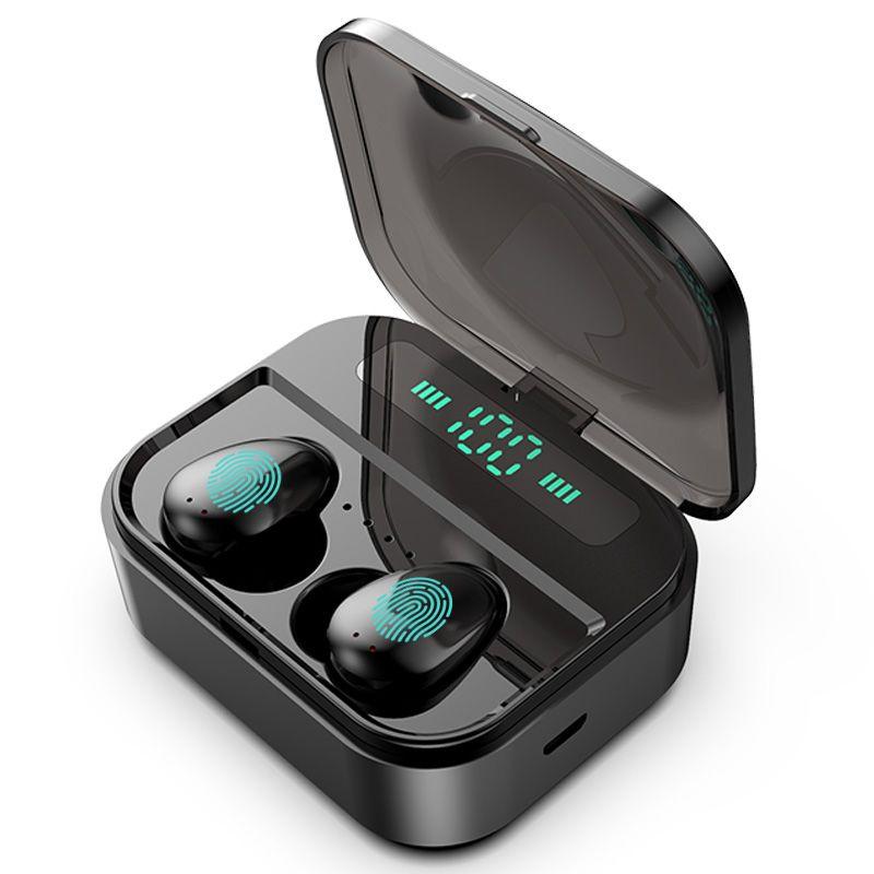 X7 TWS بلوتوث 5.0 سماعة الصمام عرض صحيح سماعات سماعات التحكم اللاسلكية مع مربع شحن 2200mAh ل IOS الروبوت