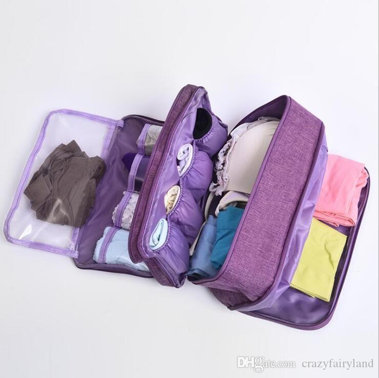 Portable Bra Underwear sacchetto impermeabile di immagazzinaggio dei calzini di viaggio Cosmetics cassetti Organizzatore armadio guardaroba di vestiti del sacchetto di colore superiore