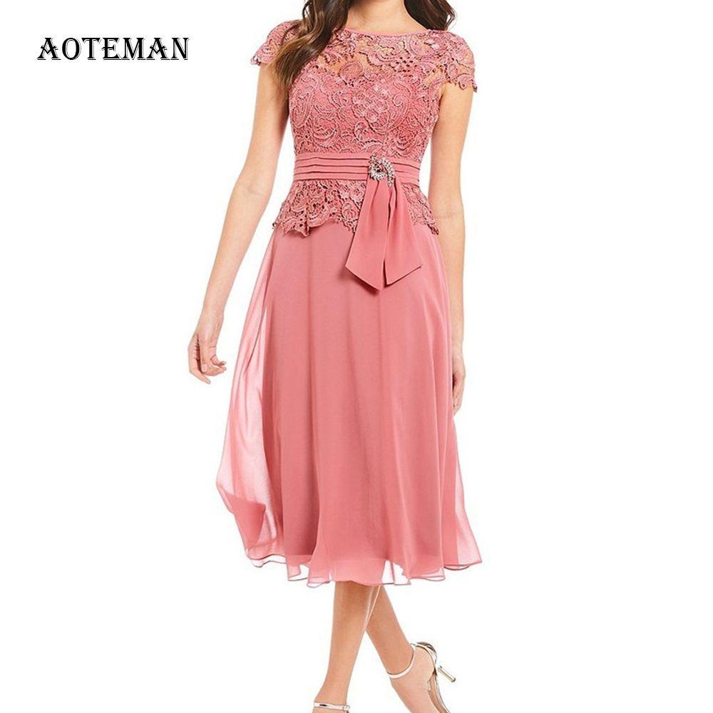 Verão vestido de mulher Autumn 2020 elegante Sexy oco Out Lace vestido longo Vintage Plus Size Patchwork Chiffon A Festa Line Vestido MX200518