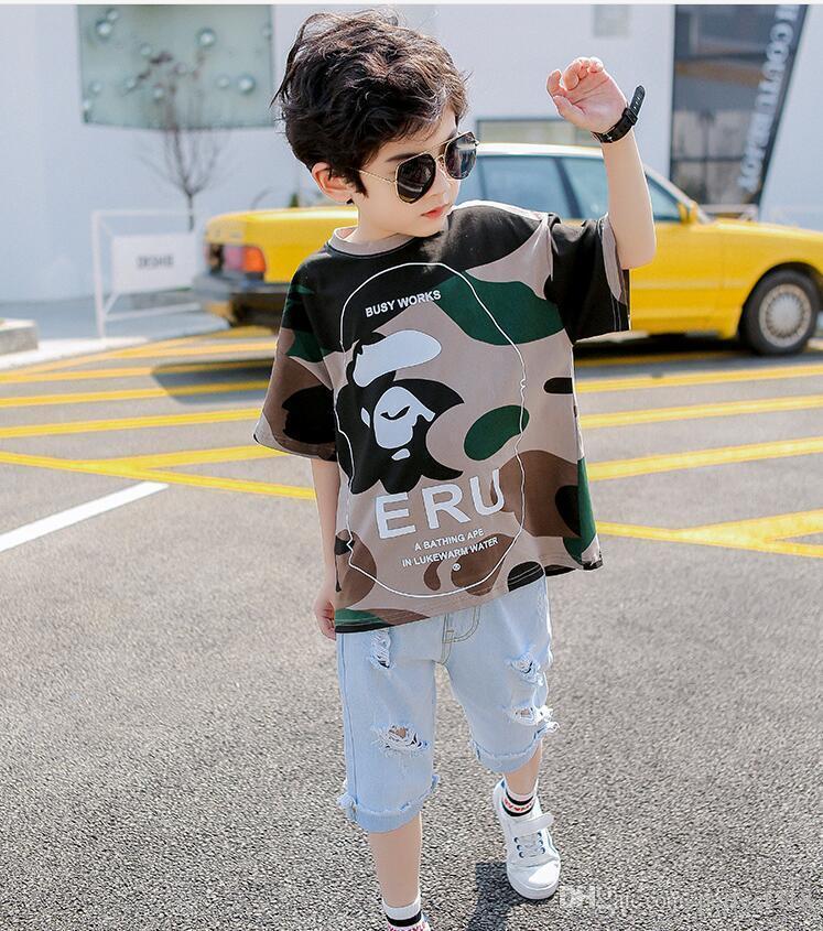 De alta qualidade Verão meninos e meninas camisas roupas de grife desenhos animados de algodão T-shirt dos miúdos de manga curta em roupas T-shirt