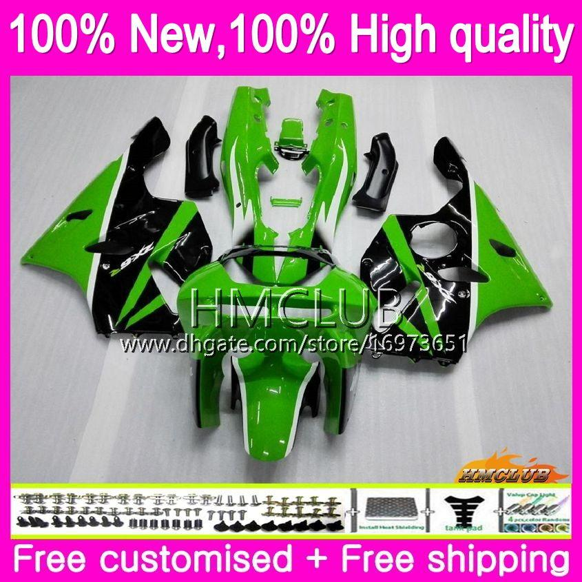 Body For KAWASAKI ZX 636 600 CC 600CC ZX6R 94 95 96 97 61HM.9 ZX600 ZX636 ZX-6R 94-97 ZX 6 R 6R 1994 1995 1996 1997 Fairings factory green