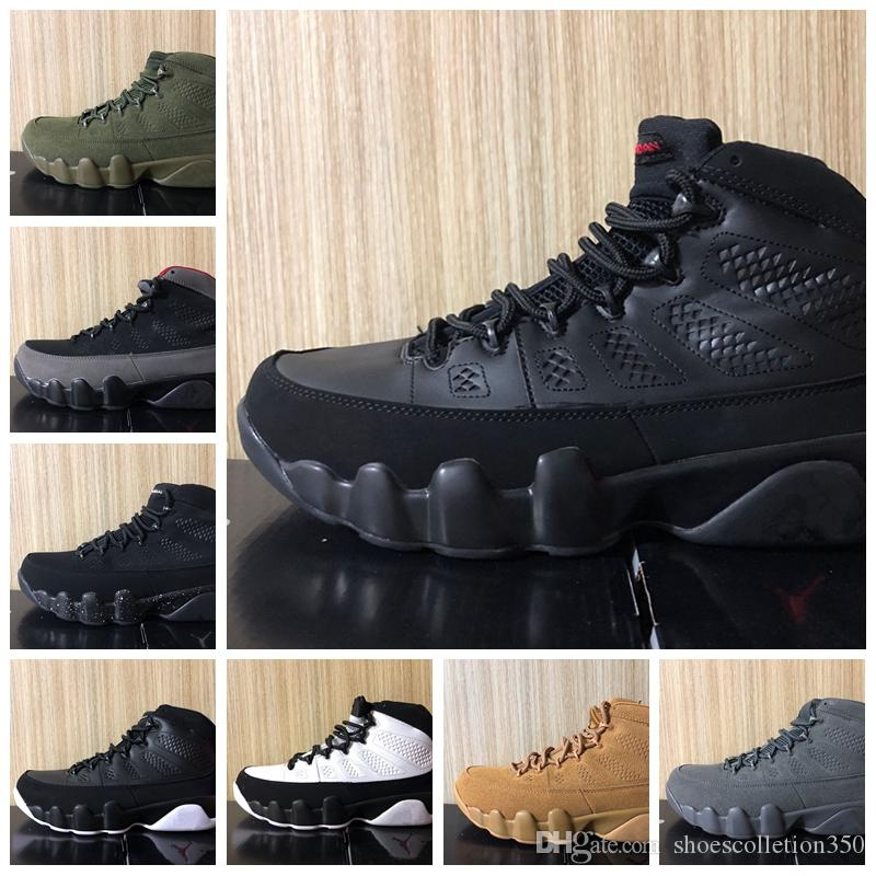 Nike Air Jordan Original AJ AJ9 Sonhe Faça-o 9 9 s Mens Basketball Shoes Antracite O Espírito CRIADO OG espaço jam UNC Atletismo Esportes Sneakers 7-13