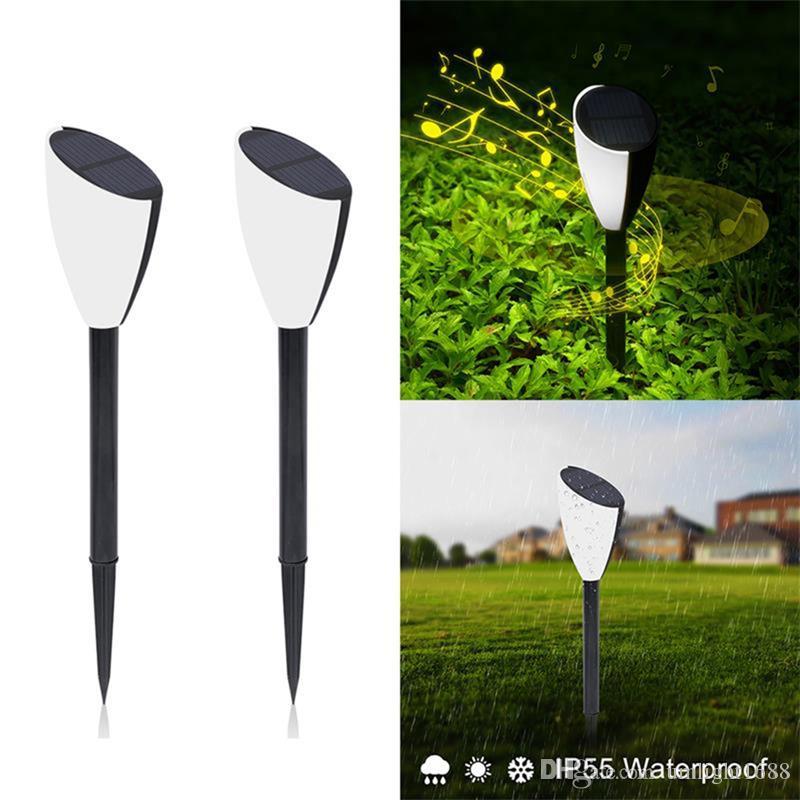 Umlight1688 Solar-Musik-Lampen LED Wegbeleuchtung Wettersolarlandschaftsrasen-Licht mit Frosch Screams Weihnachtsdekoration Lichter