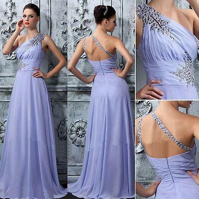 UK Formal longo Lace Mulheres Prom dama de honra do vestido de casamento Maxi