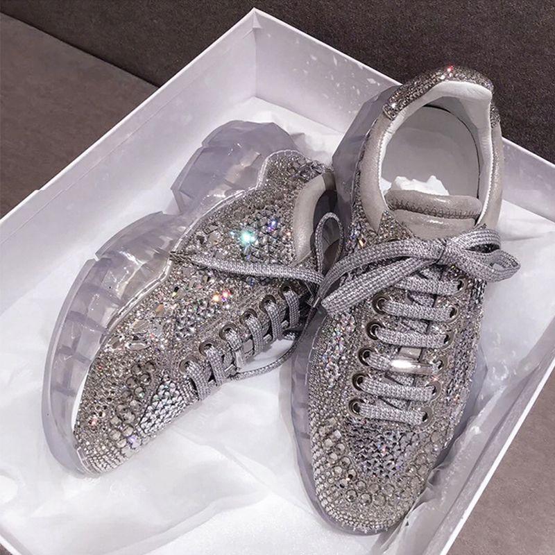 Platform Sneaker Bling Womens Sneakers
