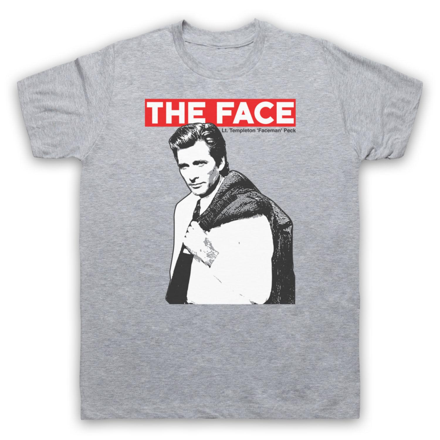 Templeton Faceman Peck The Face 1980s Tv A Team T-shirt Unofficial Mens Ladies 100% algodón Hombre Mujer Camiseta Camisetas Personalizado