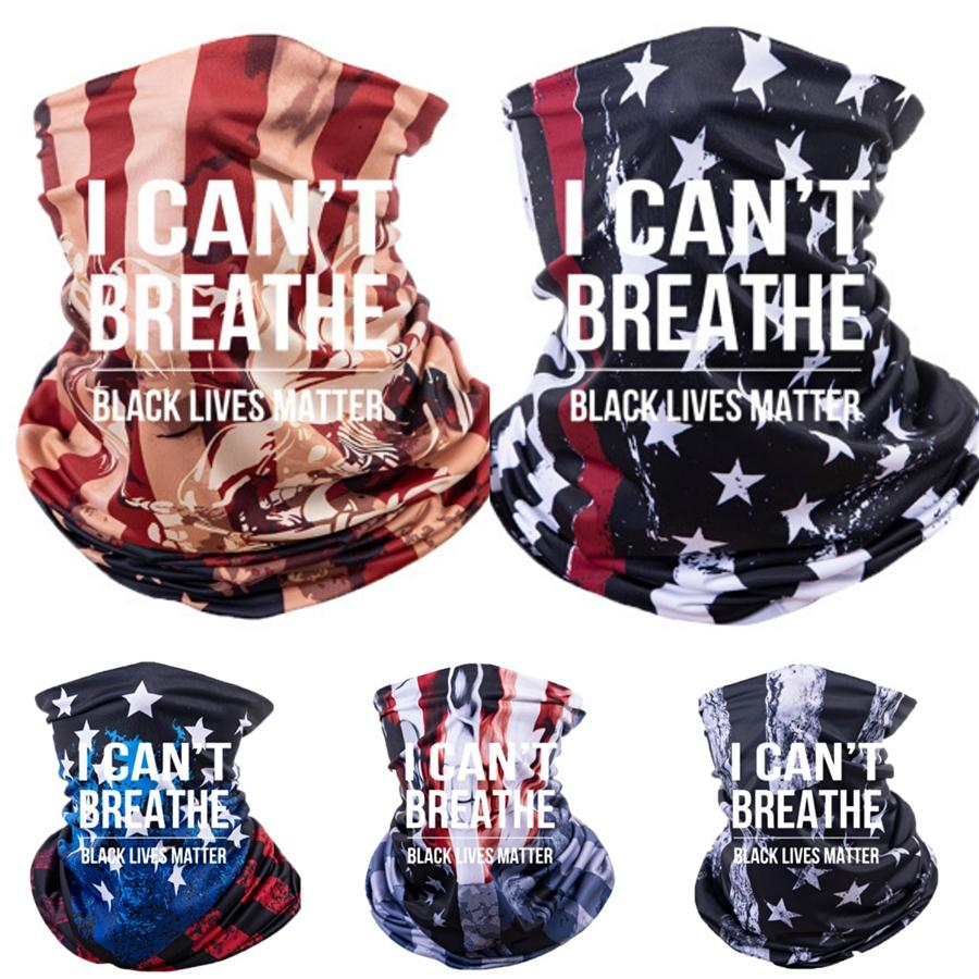 I Cant Breathe! Shipping Unisex Neck Gaiter Scarves Bandana With Pm 2.5 Filter Dust Sun Protection Multi Purpose Face Scarves Breathable #750