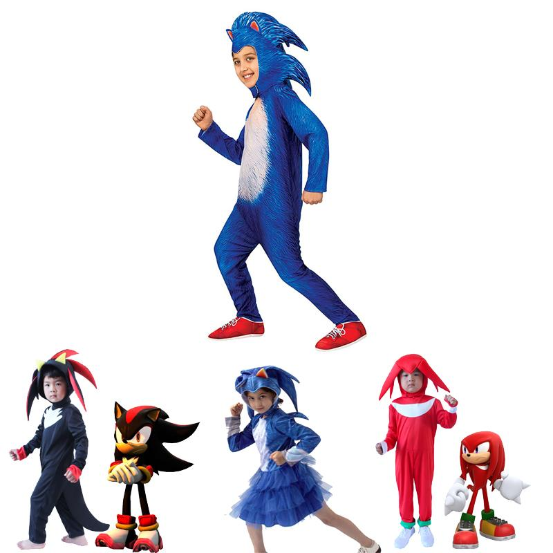 2020 Kids Deluxe Sonic The Hedgehog Cosplay Costume Children Full Body Suits Carnival Shadow The Hedgehog Halloween Costumes From Curd 20 28 Dhgate Com