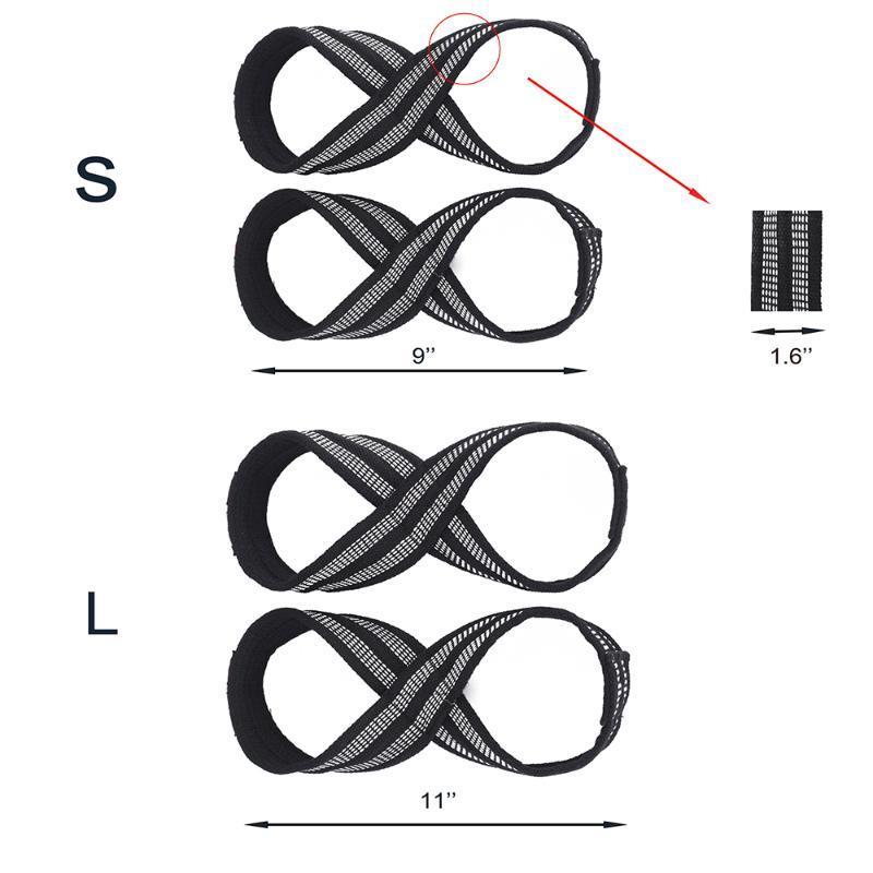 Bandas Resistência 2pcs Nylon Exercício Halterofilismo aptidão cintas de rolamento