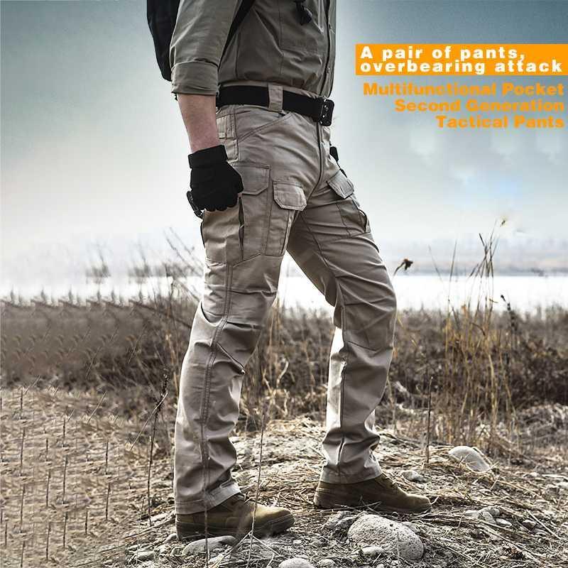 Pantalones al aire libre xz ripstop ligero impermeable táctico hombres camo pantalones camping senderismo ejército camuflaje