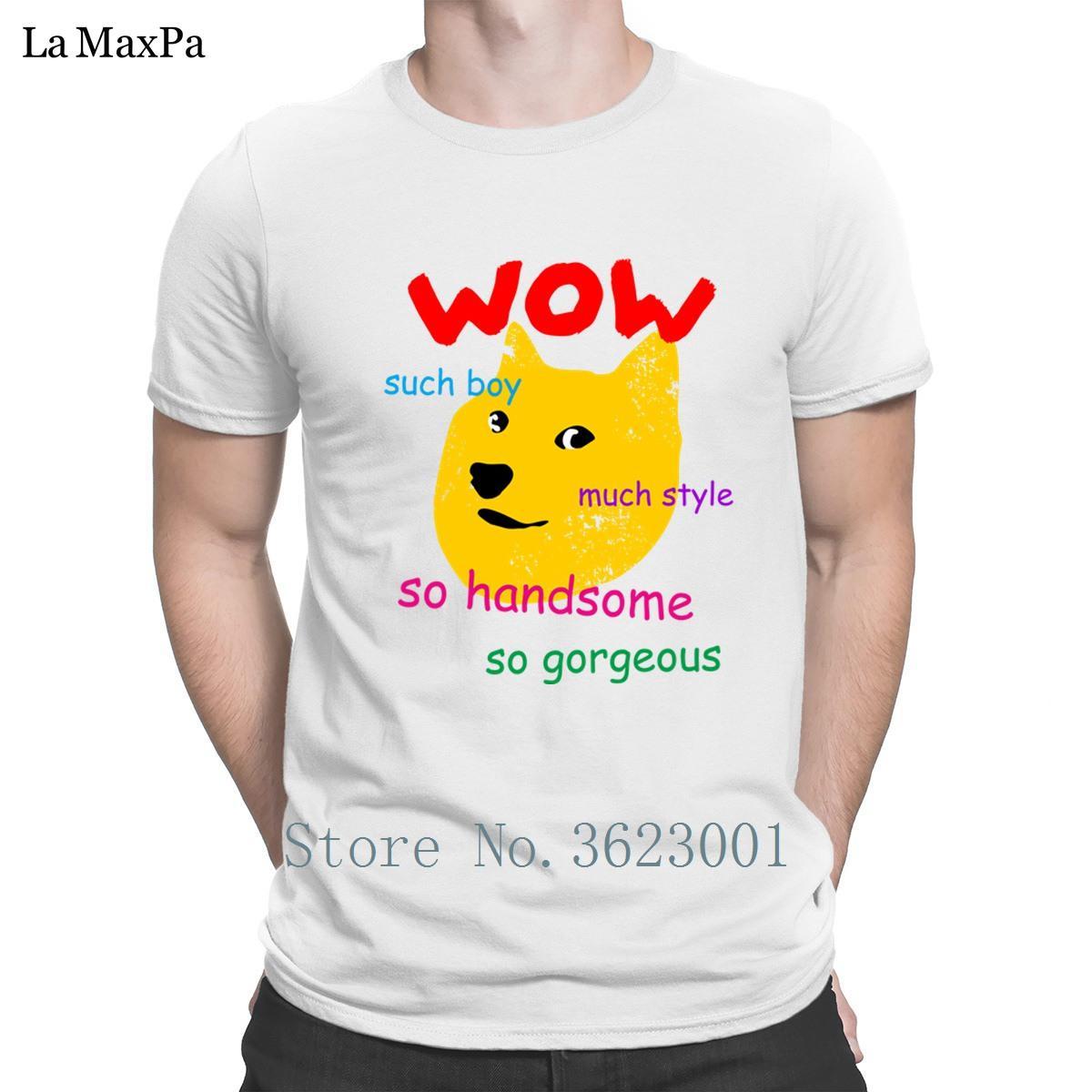 Design Natürliche T-Shirt für Männer Frühlings-Doge Shiba Solche Junge Mann Comical Fun Cotton Einfach-T-Shirt Hiphop