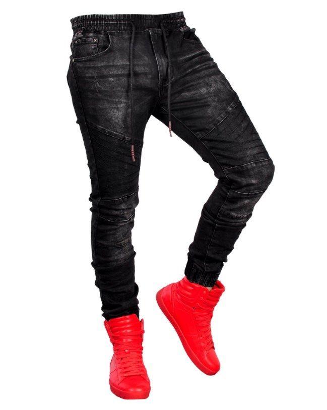 Compre Joggers Jeans Pant Simwood 2019 Pantalon Mezclilla Hombre Nuevos Hombres Jogger Moda Hombre Elastico Cintura Negro Jeans Hombres A 4 26 Del Yumo01 Dhgate Com