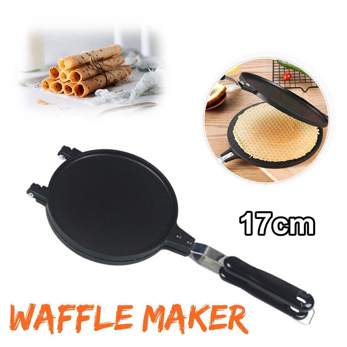 Haushalts Waffel backen Maker Küche Non-Stick Aluminiumlegierung Waffel-Hersteller Pan-Form-Form Preßplatte Waffeleisen Backen-Werkzeuge