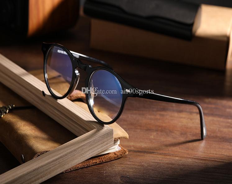 Heißer Verkauf over 5186 45mm Gregory Peck Gläser Rahmen Männer und Frauen ov5186 Sonnenbrille Mode Brille Frames mit Originalkasten