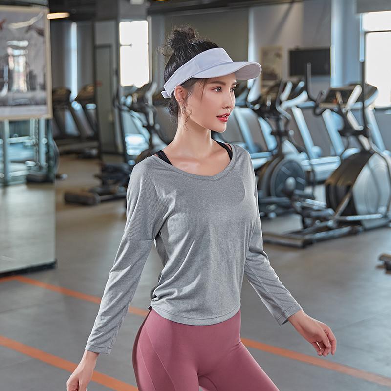 Yoga Tops lange sleev für Frauen Fitness-Verschleiß Fitness-Workout Tanzen läuft Mode Sportswear T-Shirts Sport Top-Jogging