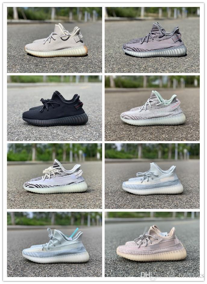 Ayakkabı çalışan 2019 Erkek Zebra Mavi Ton Beluga 2,0 bulut beyaz Susam Yansıtıcı Sigara Synth Sitrin Eğitmenler Kadınlar Sneaker BlackRed