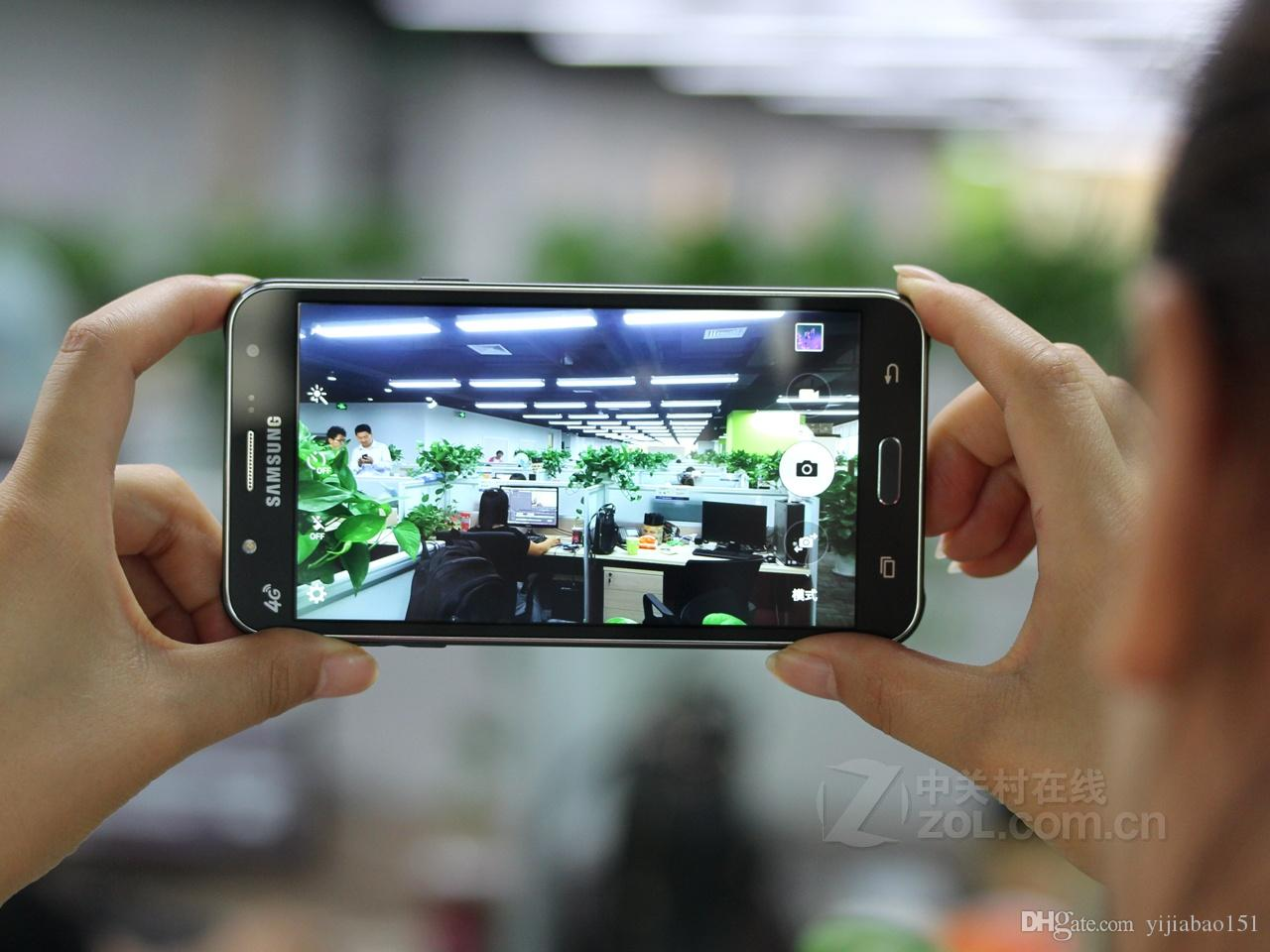 Yenilenmiş Orijinal Samsung Galaxy J7 J700F Çift SIM 5.5 inç LCD Ekran Octa Çekirdek 1.5GB RAM 16GB ROM 13 MP 4G LTE Kilidi Telefon DHL
