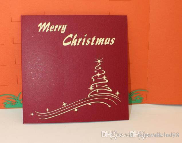 QQ8 marry Christmas card paper cut engrave watercolor blessing can be customized general valentine's day card teachers' day QQ8