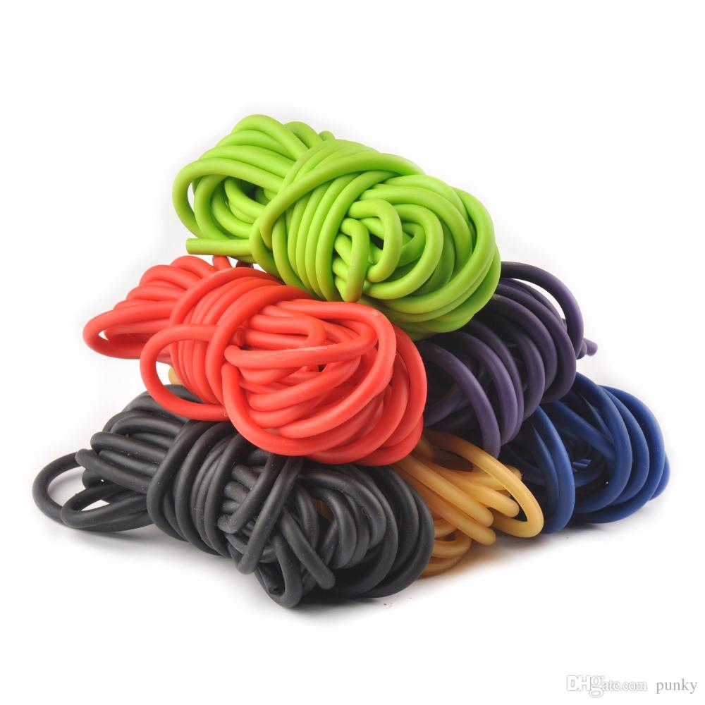 Outdoor Gadgets 10m Natural Latex Rubber Tube Stretch Elastic Slingshot Replacement Band Catapults Sling Rubber Wholesale