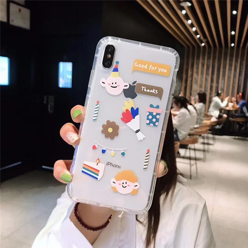 One Piece Luxus transparent weich Telefonkasten für iPhone 7 8P XR 11PROMAX Art und Weise des Antisturzes Designer Telefonkasten der rückseitigen Abdeckung