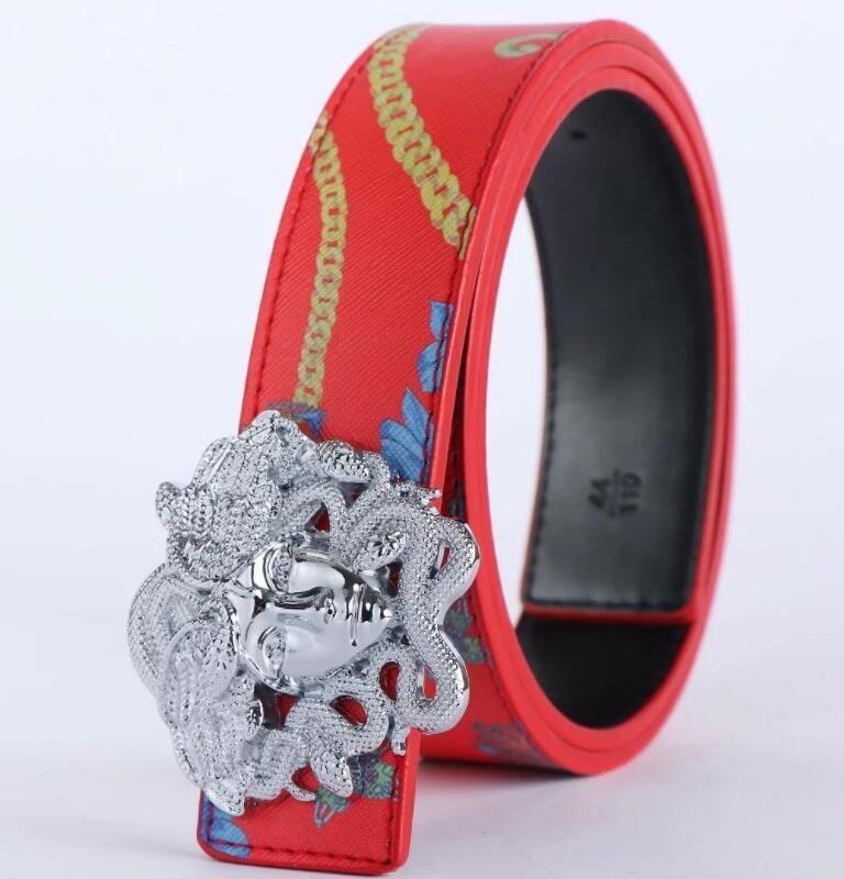 1049 Belt Womens High Quality Genuine Leather Black And White Color Cowhide Belt For Mens Belt 105-125CM