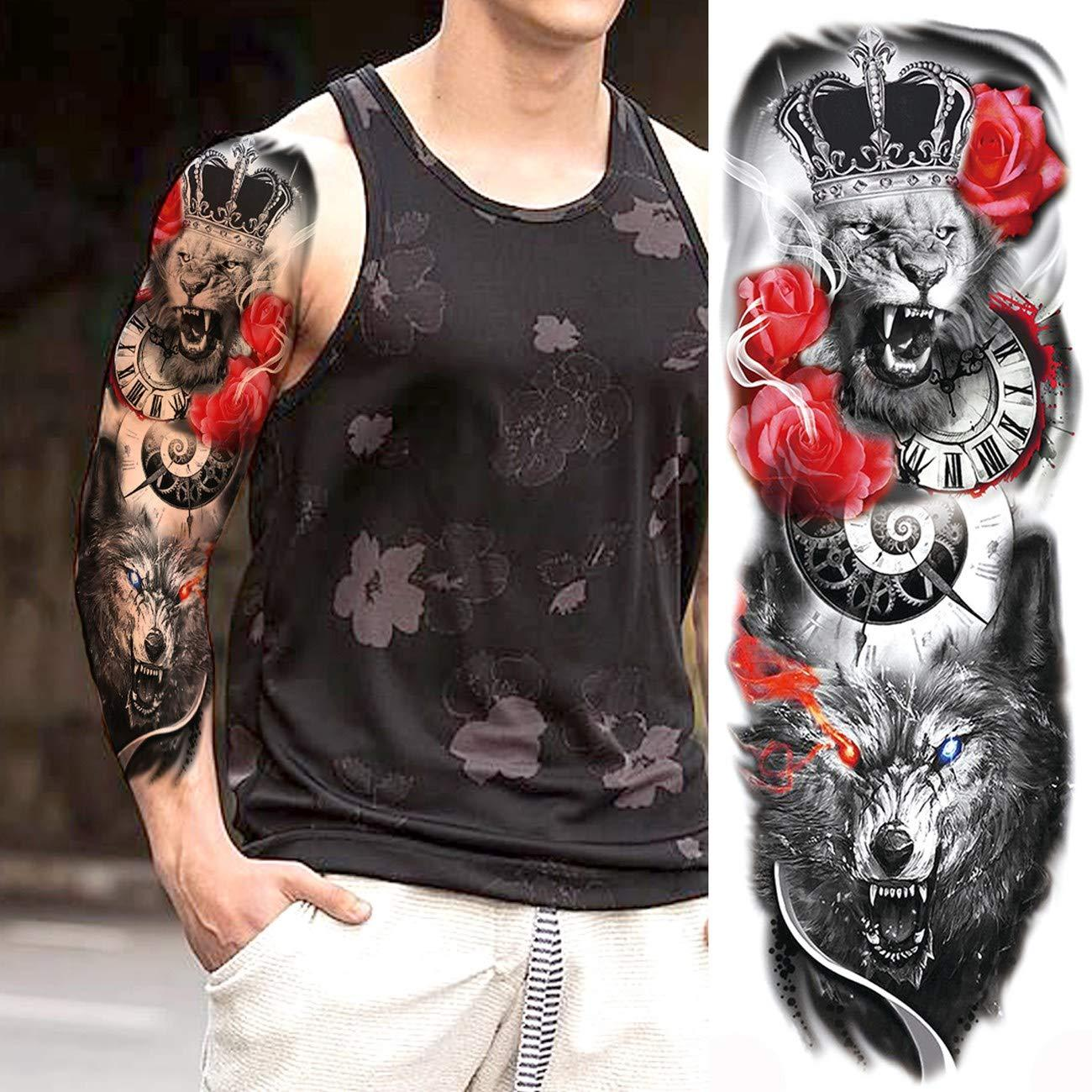 Flowers Tattoo Transferable Fake 3d Body Art Tatoos Neck Arms Sleeve Rose Temporary Tattoo Sticker Temporary Tattoo Ideas Temporary Tattoo Online From Zznysm2 0 61 Dhgate Com