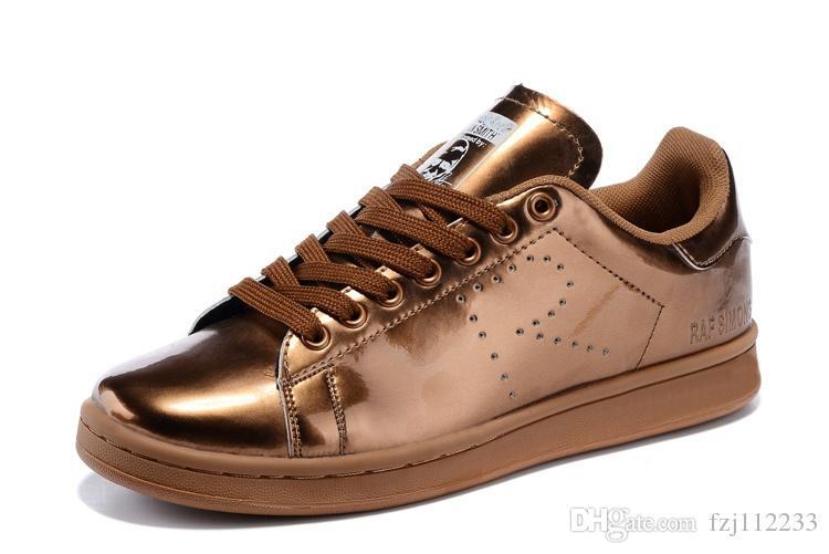 Любовь высокое качество женщины мужчины новый стан обувь Мода кузнец кроссовки случайные кожаные ботинки спорт балетки