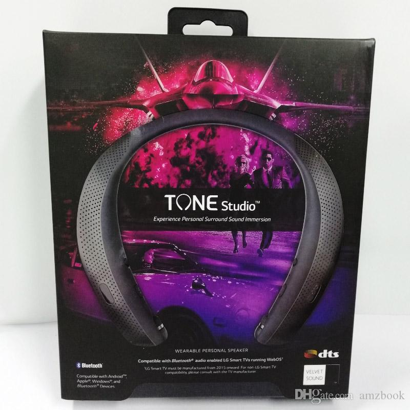 경험 개인 서라운드 사운드 집중 TM LG-HBS-W120-V1 무료 배송 가능 오디오와 톤 스튜디오 블루투스 넥 밴드 헤드폰