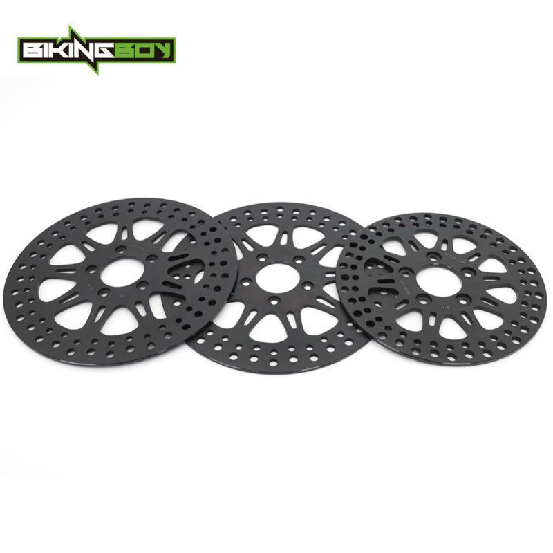 BIKINGBOY Frente Rear Brake Discs Discos Rotores de 883 Elenco Roda Super Baixo / Ferro / Roadster