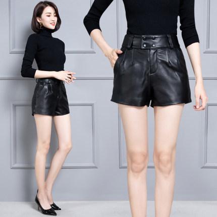 2020 femmes Nouveau vrai cuir véritable Sheep Shorts KS64