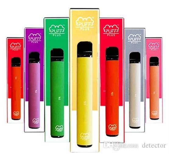 Hookah caliente Puff Plus desechables Pod dispositivo actualizado Bar 550mAh cigarrillo electrónico Vape Pen 800 soplos 3,2 ml Cartuchos E Cigs Kit