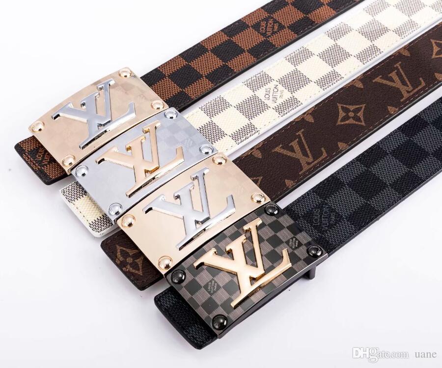 2020 correas de los cinturones de lujo del diseñador para los hombres hebilla de correa superior mens cinturones de cuero al por mayor del envío libre