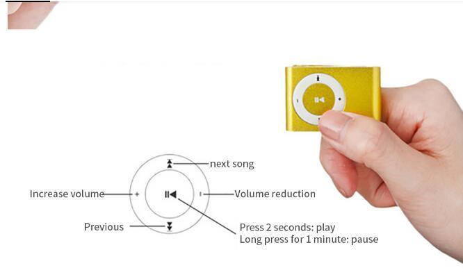 10 pc per lotto Mini USB MP3 della clip dello schermo a cristalli liquidi del giocatore di sostegno 32GB micro SD TF Radio FM in scatola al minuto