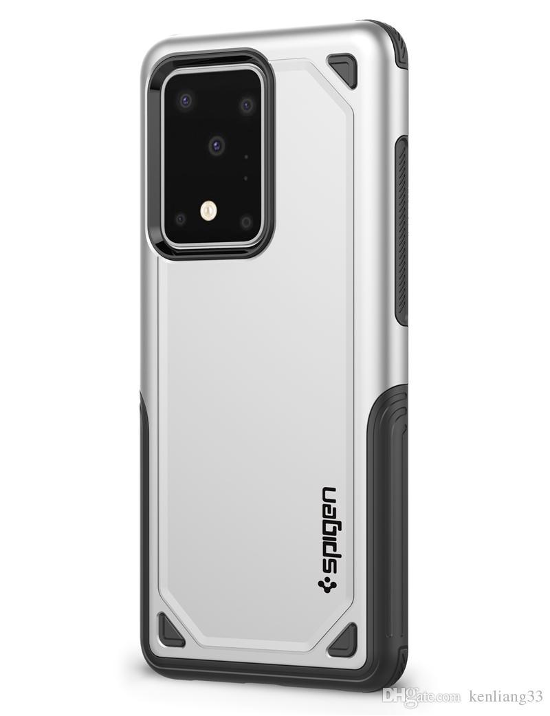 SGP Spigen درع الهجين القضية ملحقات الهاتف الخليوي الهاتف PC TPU درع ضئيلة لسامسونج S20 زائد الترا S10 S9 S8 S7 حافة الملاحظة 10 9 8